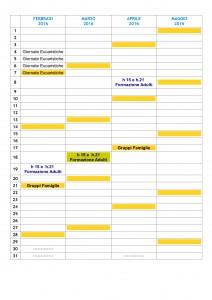 CALENDARIO 15-16 FEB-MAG