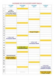 CALENDARIO 15-16 OTT-GEN