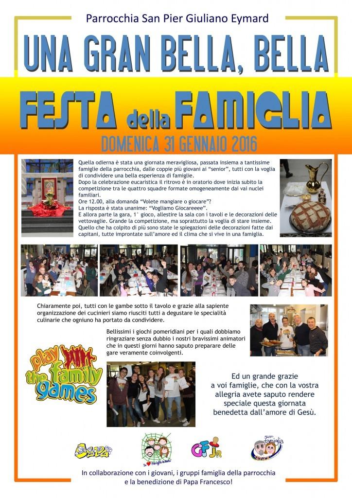 FESTA DELLA FAMIGLIA 2016 UNA BELLA FESTA