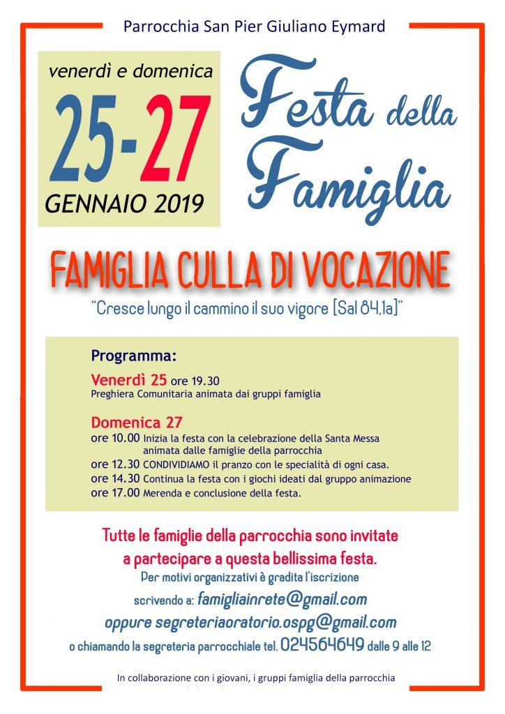 FESTA DELLA FAMIGLIA 2019